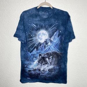 The Mountain Shirt Wolf Moon Graphic Tee Tie Dye
